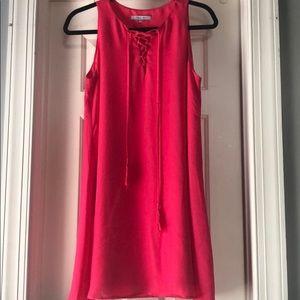 Pink summer slip dress
